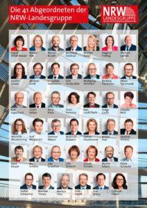 Übersicht der 41 Abgeordneten der NRW-Landesgruppe